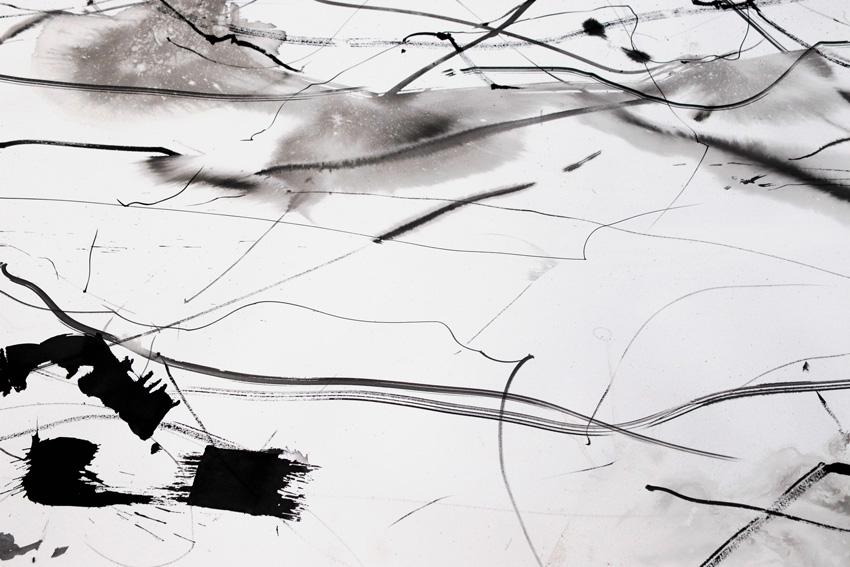 Kate Hammersley Flows Helium Drawing (detail) 2