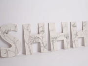 Kate Hammersley SHHH pencil on porcelain Artist in Residence University of Wolverhampton ceramics