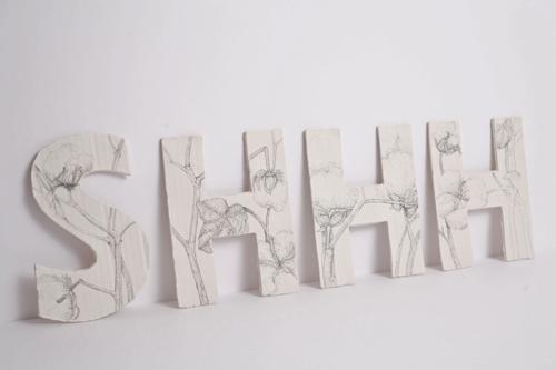 Kate Hammersley SHHH pencil on porcelain Artist in Residence University of Wolverhampton ceramics